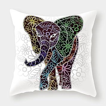 Amazon.com: iPrint - Funda de cojín de lino y algodón con ...
