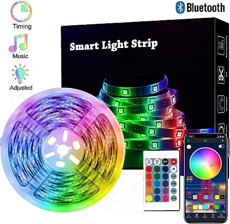 Maylit TV LED Backlight 14.3ft for 65-75in TV Bluetooth Control Sync to Music USB Bias Lighting TV LED Lights Kit with Remote RGB 5050 LEDs Color Changing Lights for Room Bedroom LED Strip Lights