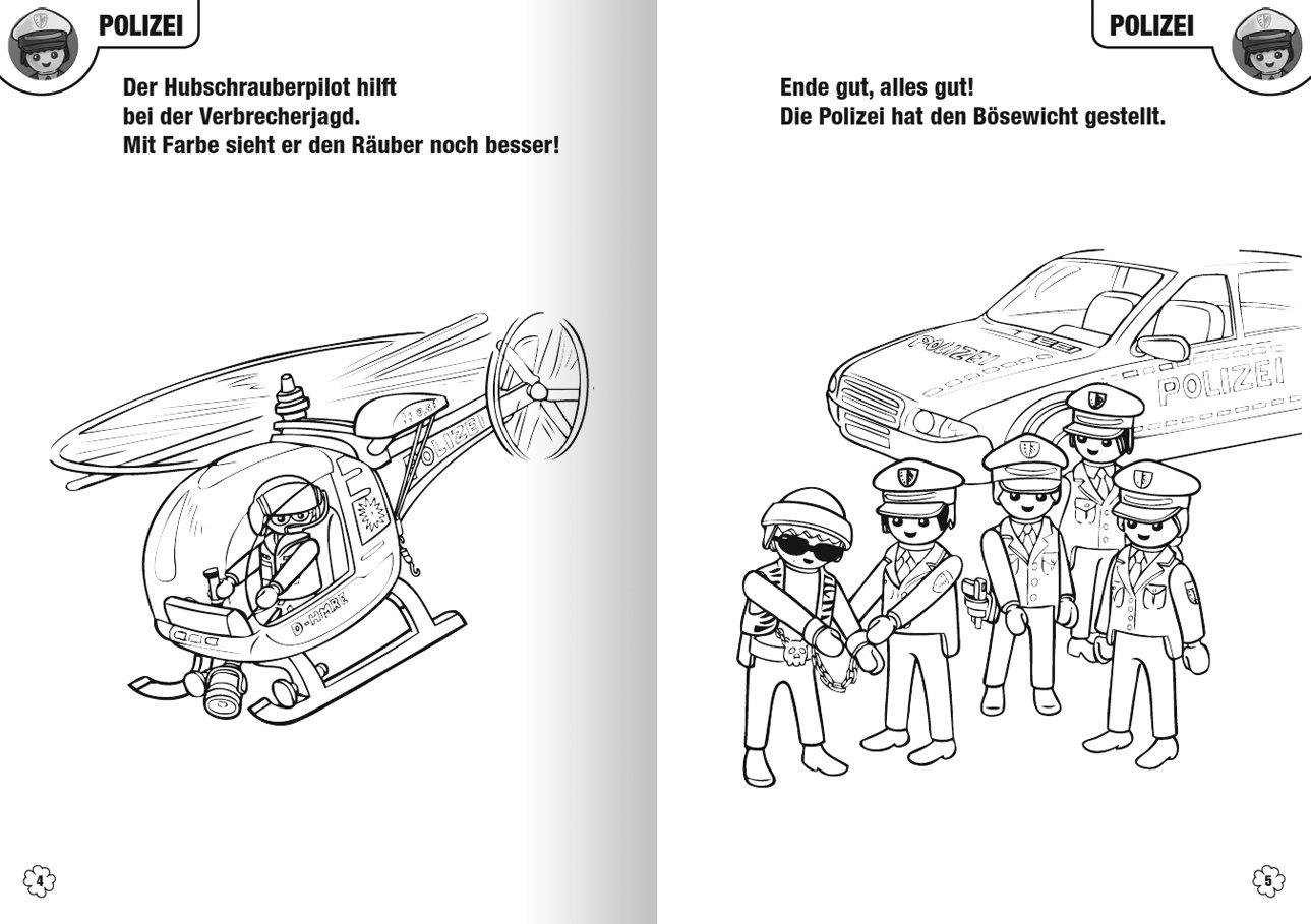 Ausmalbilder Feuerwehr Playmobil : Niedlich Ausmalbild Playmobil Polizei Bilder Malvorlagen Von