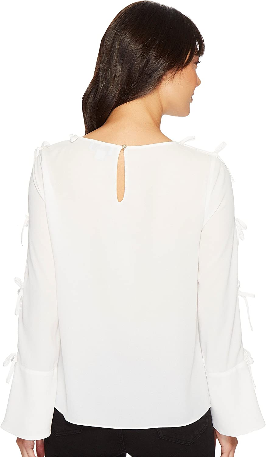 3bdcac1bef748f CeCe Womens Long Sleeve Lightweight Crepe Blouse w/Bow Detail at Amazon  Women's Clothing store: