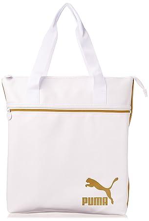 09de186aa0 Puma Spirit Sac à Main pour Femme UA Blanc - White-Gold: Amazon.fr ...