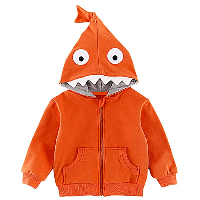 e5582a395177 Amazon.com  Kanodan Baby Boys Shark Outerwear Jacket Toddler Hooded ...