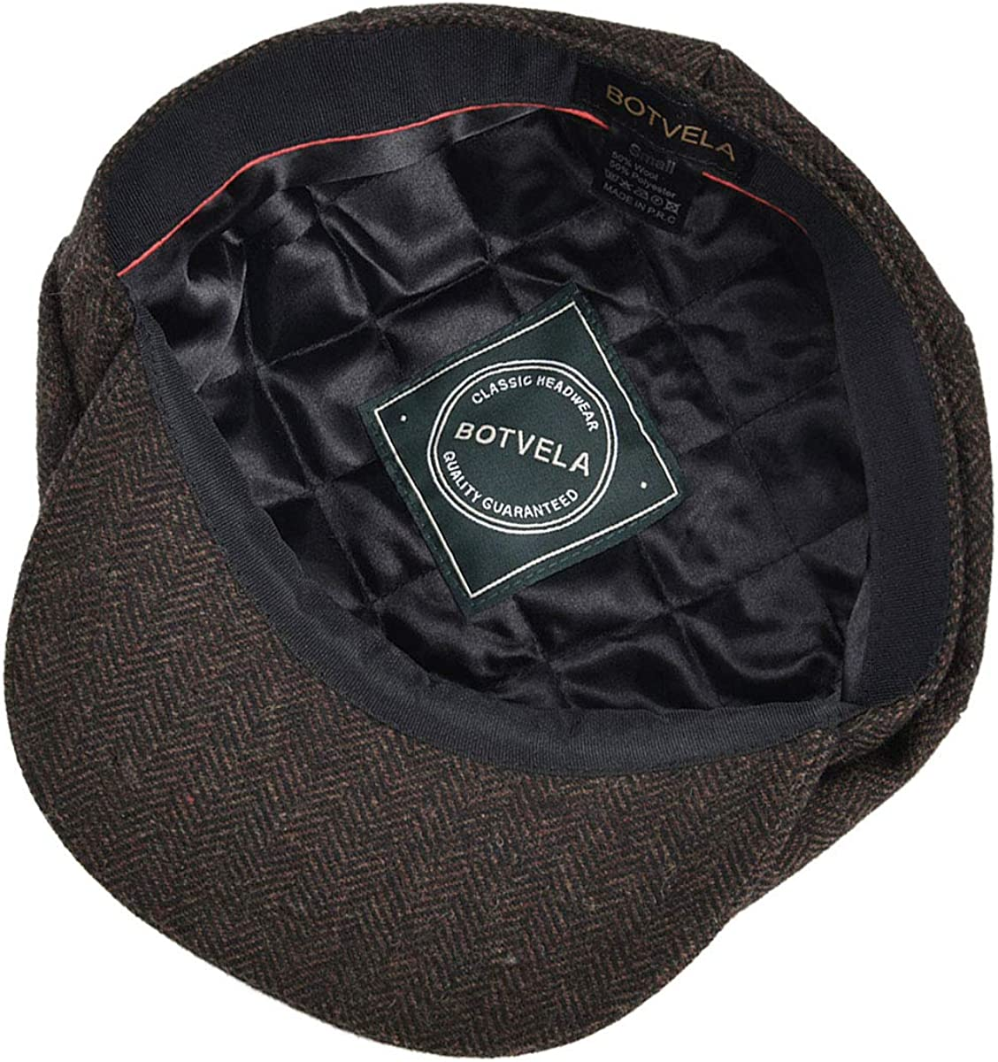 NEW Newsboy Cap - 100/% Sheepskin by Northern Hats SKU: 08K-BLK-AS Black