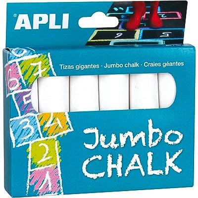 APLI Kids- Tiza, Color Blanco - 6 uds. (14370)