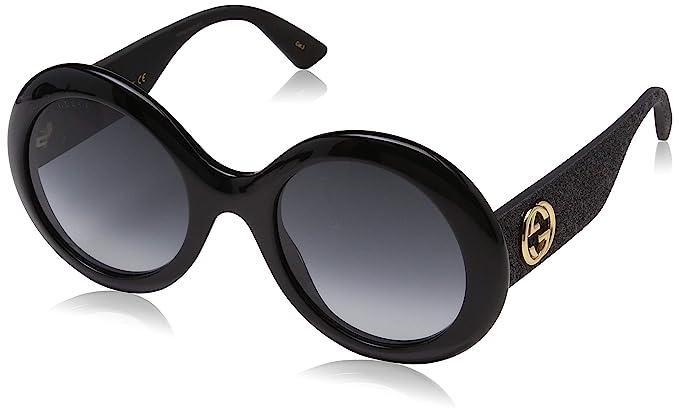 6029cf8e37 Gucci GG0101S 001, Occhiali da Sole Donna, Nero (Black/Grey), 53:  Amazon.it: Abbigliamento