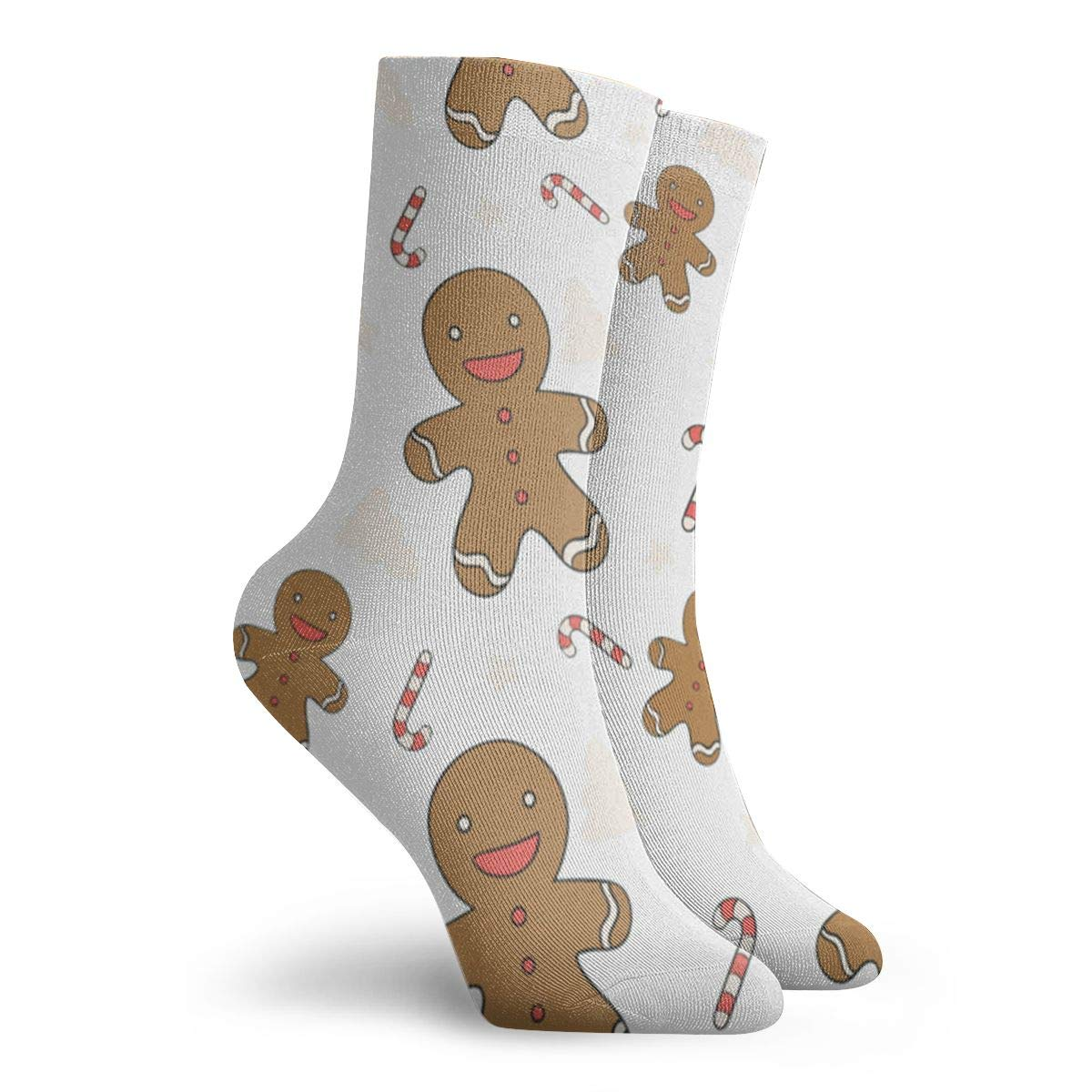 Gingerbread Man Pattern Unisex Funny Casual Crew Socks Athletic Socks For Boys Girls Kids Teenagers