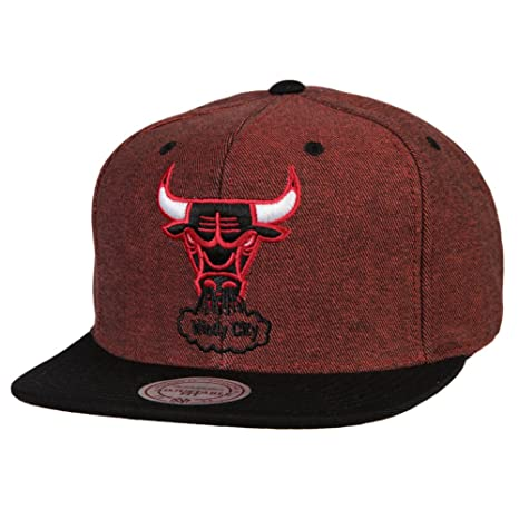 the latest 370e6 85dec Mitchell Ness Denim Harry 2 Tone NBA Chicago Bulls Team Quality Snapback Hat