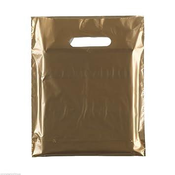 100 nuevo troquelado mango bolsas de plástico de la compra ...