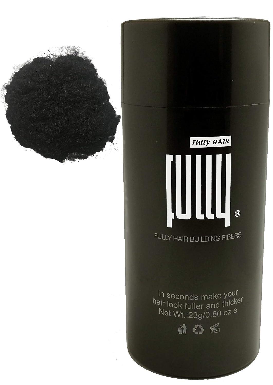 FULLY Hair Fibers - Schütthaar - Streuhaar zur Haarverdichtung bei lichtem Haar- Premium Qualität in Sekunden volles Haar - 23g (Mittelbraun) Fully Group