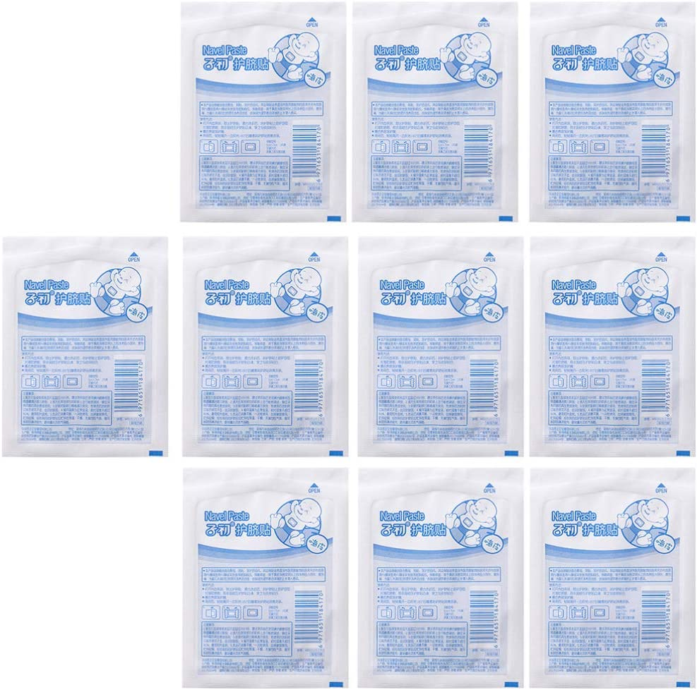 NUOBESTY 10pcs Baby Navel Sticker Waterproof Umbilical Cord Patch Swimming Bathing Infant Abdominal Binder Belly Button Protectors