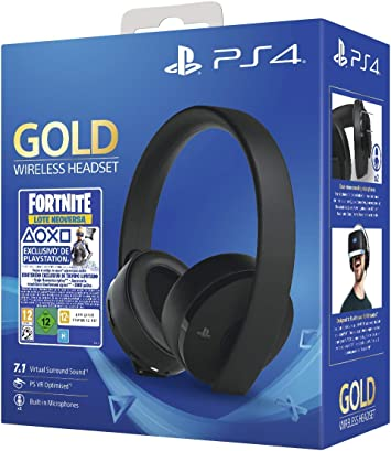 Sony Gold Edición Headset Fortnite Vch 2019 Ps4 Color Negro Sony Amazon Es Videojuegos