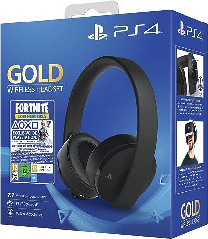 Sony - Gold Edición Headset Fortnite VCH 2019 (PS4), Color Negro ...