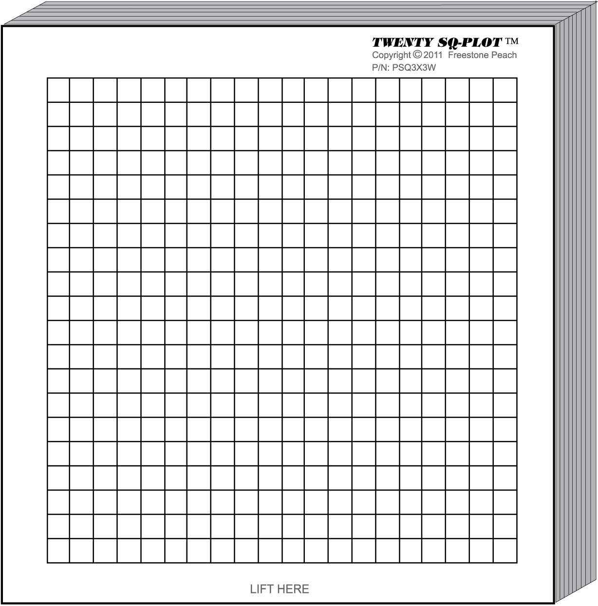 MiniPLOT Graph Paper Pads: 100 pads of 3x3 inch pre-printed Post-it Notes. 50 sheets per pad of coordinate grid design with NO axis. Grid = 20x20 squares.Use for homework, taking notes in class, tests by MiniPLOTs (Image #2)