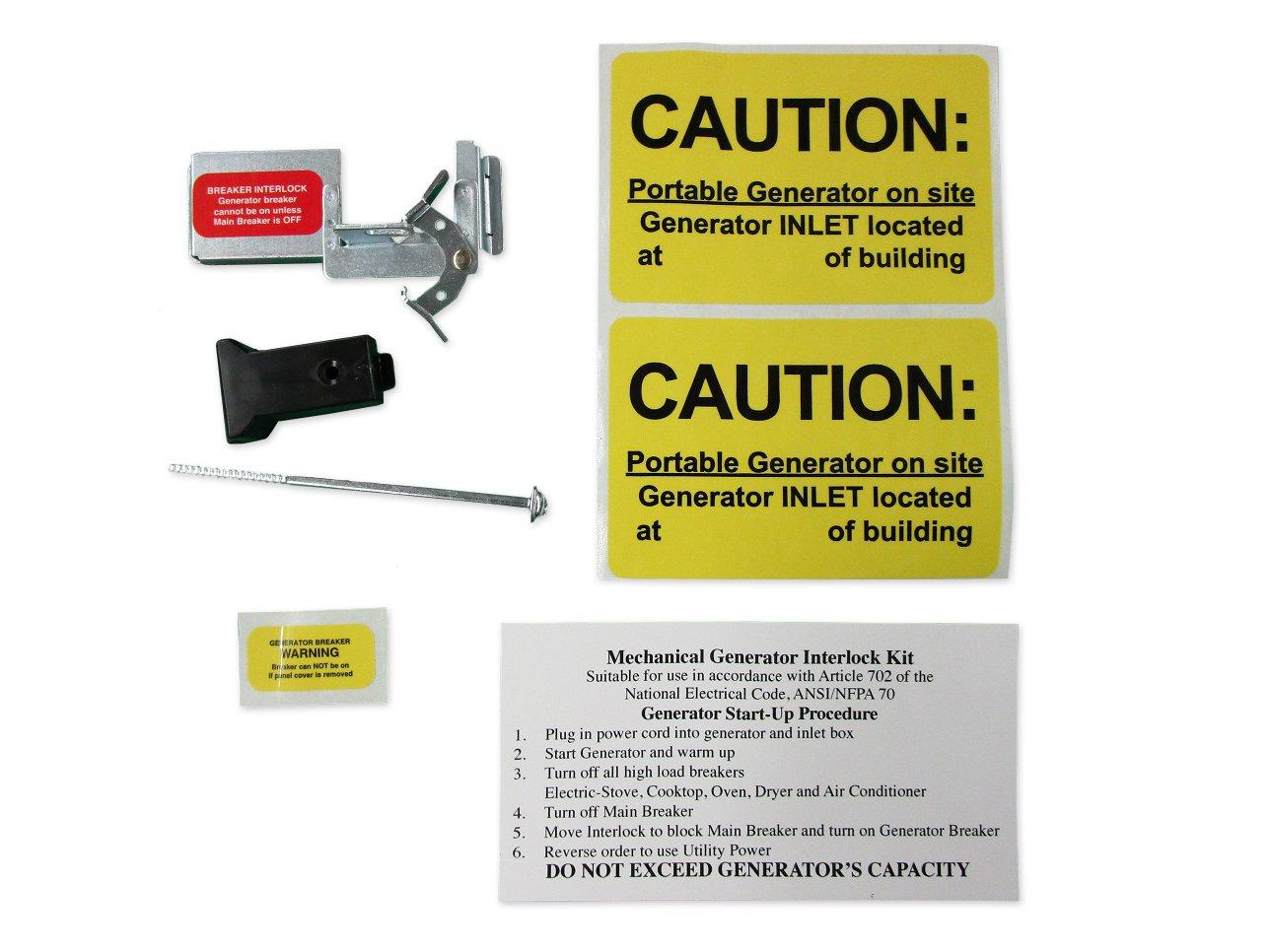 BR100UL Cutler Hammer Generator Interlock Kit BR SERIES ONLY 100 amp Main breaker
