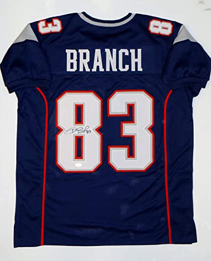 b105a34a6 Deion Branch Autographed Signed Patriots Jersey - JSA Certified at ...