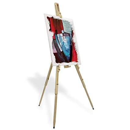 e0e77349596894 Artina Field Easel Malaga for Art Lightweight Pine-Wood 80 x 96 x 180 cm  Portable Painting Tripod Artist asel  Amazon.co.uk  Kitchen   Home