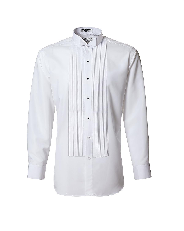 Tuxedo Shirt- White Wing Collar 1/4 Pleat