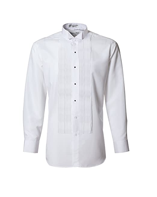 official famous brand best price Tuxedo Shirt- White Wing Collar 1/4