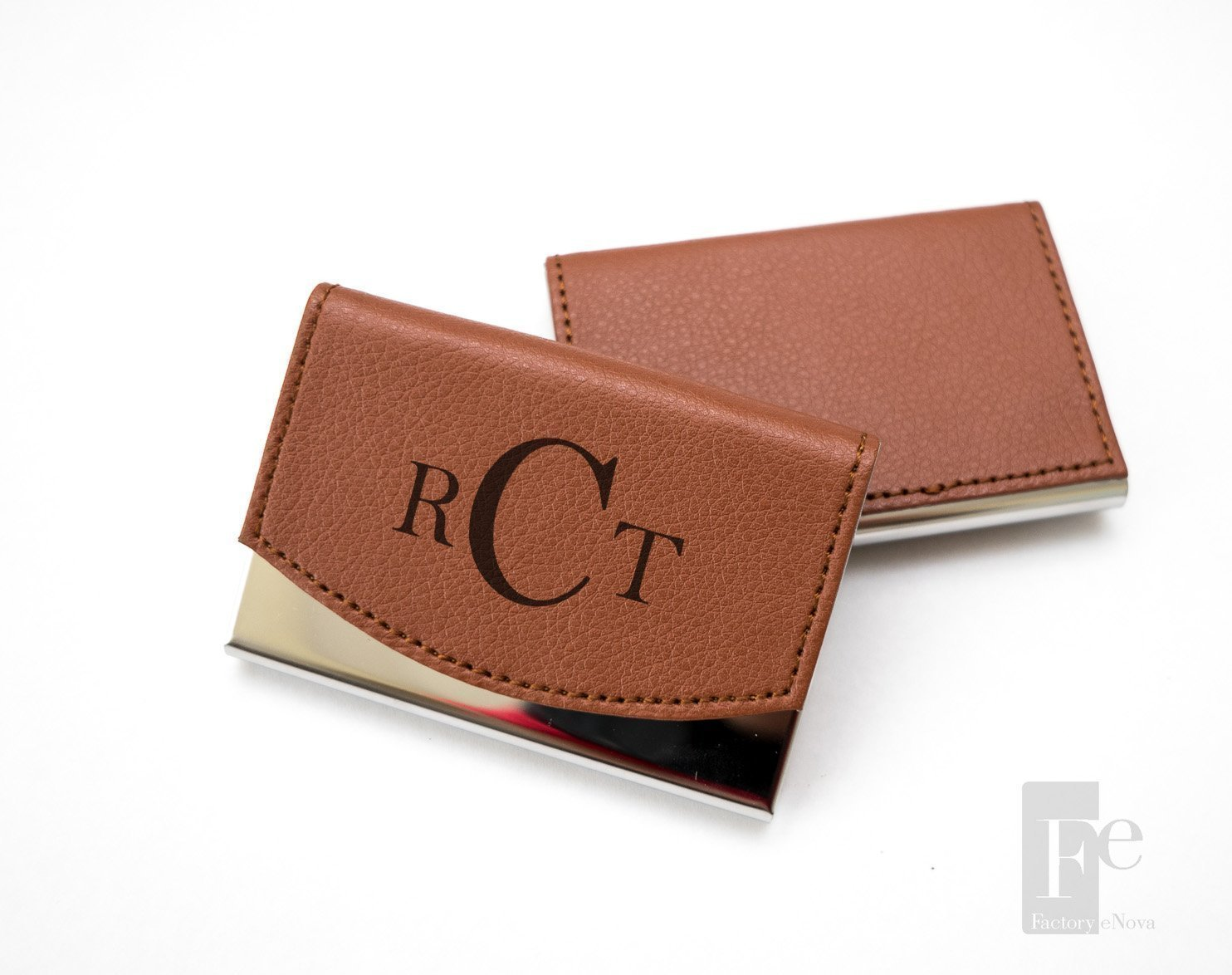 Amazon.com: Personalized Leather Business Card Holder | Custom ...