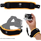 2in1 Floating Wrist Strap & Headstrap Floater - GoPro Hero 6, Hero 5, Black, Session, Hero 4, Session, Black, Silver, Hero+ LCD, 3+, 3, 2, 1 - Prevents Camera From Sinking