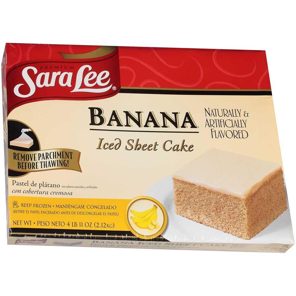 Sara Lee Iced Banana hoja pastel, 12 x 16 pulgadas – 4 por ...