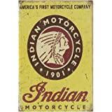 A.G.S. Retro Blechschild Indian Motorcycle Chief Nostalgie Metallschild Biker Wanddeko