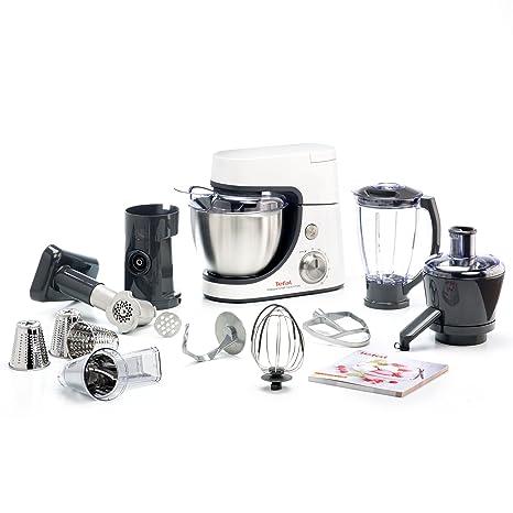 Tefal Masterchef Gourmet 900-Watt Stand Mixer with 11 Food Processor (Metallic Grey) Food Processors at amazon