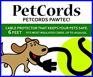 PETCORDS Mini 6ft Dog and Cat Cord Protector-Protects Your Pets from Chewing Through Charging Cables. Fits- iPhone, Android and Other USB Cables, Unscented, Odorless
