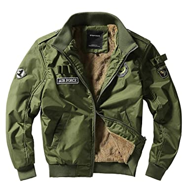 Fashion! Winter Warm Jacket,Men Casual Bomber Cardigan Coat Plus Size Stand Collar Military