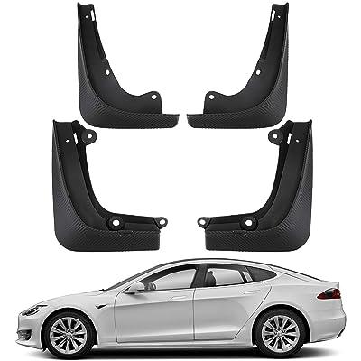 BASENOR Tesla Model S Mud Flaps Splash Guards(Set of Four) (Model S): Automotive