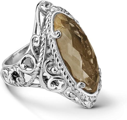 Faceted Garnet Baguette Marquise 3-Gem 925 Sterling Silver Necklace