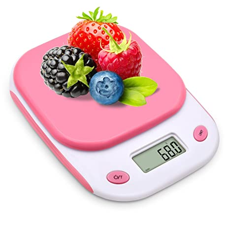 Pink Digital Kitchen Scale,AIR SIX Food Scale Electronic Mini Scale 2xAAA  Battery Included (