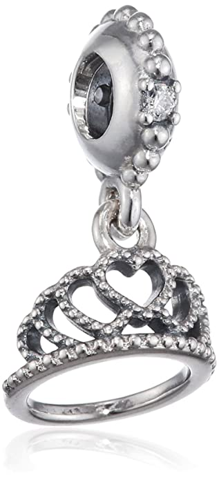 e36177dde300e Pandora Hearts Tiara Pendant Charm in 925 Sterling Silver, 791738CZ