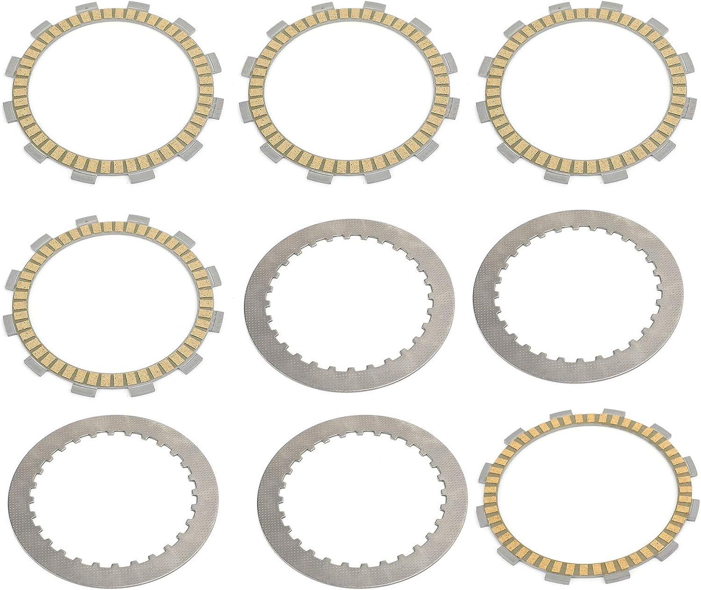 placas de disco de acero y placas de fricci/ón para SU-ZU-KI TU GW GZ GN DR VL 250 1982-2017 Juego de placas de embrague para motocicleta Artudatech placa de embrague de motocicleta