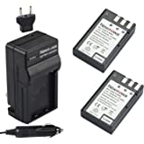 Newmowa EN-EL9 Replacement Battery (2-Pack) and Charger kit for Nikon D3000, D5000, D40, D60, D40X
