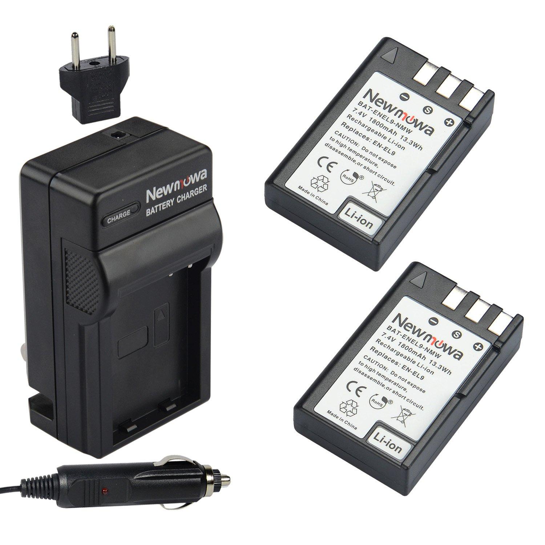 Newmowa EN-EL9 Battery (2-Pack) and Charger kit for Nikon D3000, D5000, D40, D60, D40X