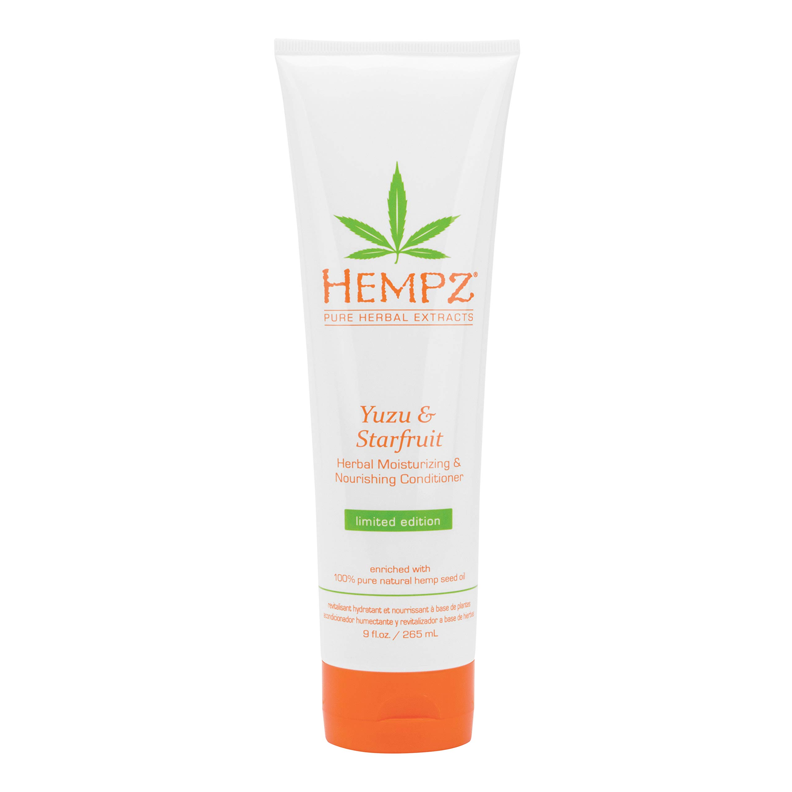 Hempz Yuzu and Starfruit Conditioner with Shea Butter and Essential Extracts, for Women and Men, 9 oz. - Natural, Moisturizing Conditioner for Dry, Color-Treated Hair - Professional Hair Care Products by Hempz