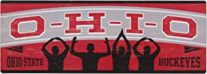"""Open Road Brands NCAA Collegiate University 28""""x10"""" Slogan Wood Wall Décor"""