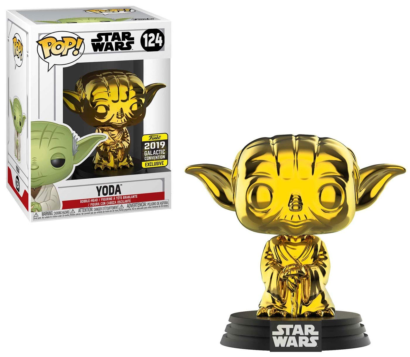 2019 Galactic Convention Star Wars Chrome Boba Fett Funko