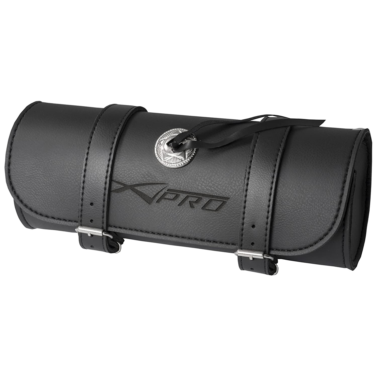 A-Pro Outil de Pro A Roll Saddle Bag Moto Bike Moto Panniers 32  x 13  cm Noir 5180000023447