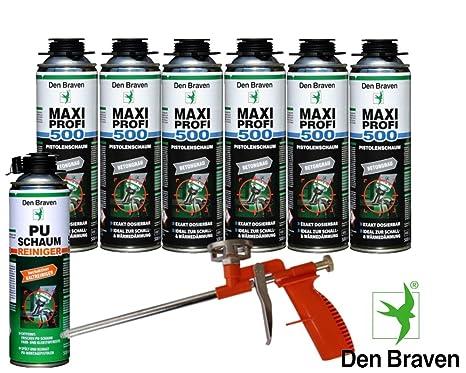 Den Braven Set profesional 6 x Maxi profesional 1 KB2 de – Pistola de espuma de
