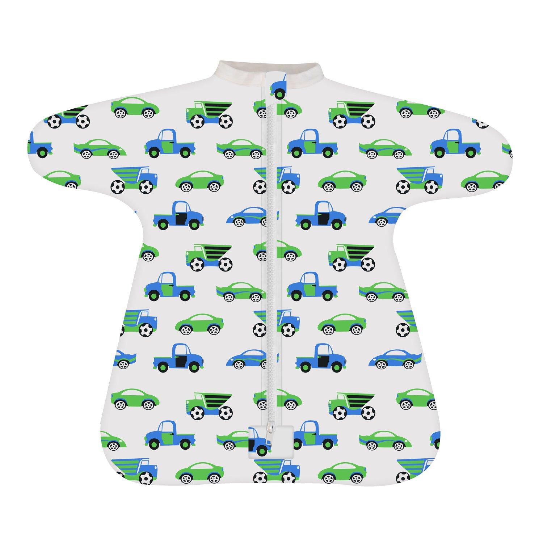 Cozy Baby Sleeper Swaddle Wearable Blanket by Revelae - Vroom - 6-9 Month b4dee3093