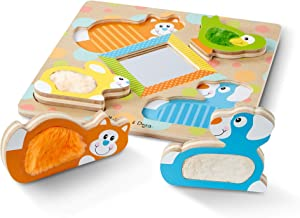 Melissa & Doug FIRST PLAY Touch & Feel Puzzle – Peek-a-Boo Pets