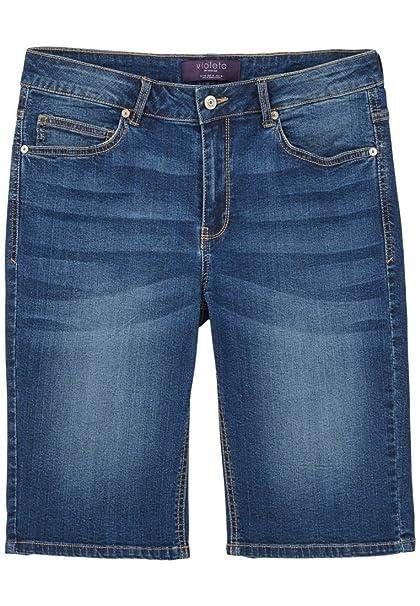 VIOLETA BY MANGO - Pantalón corto - para mujer Azul azul ...