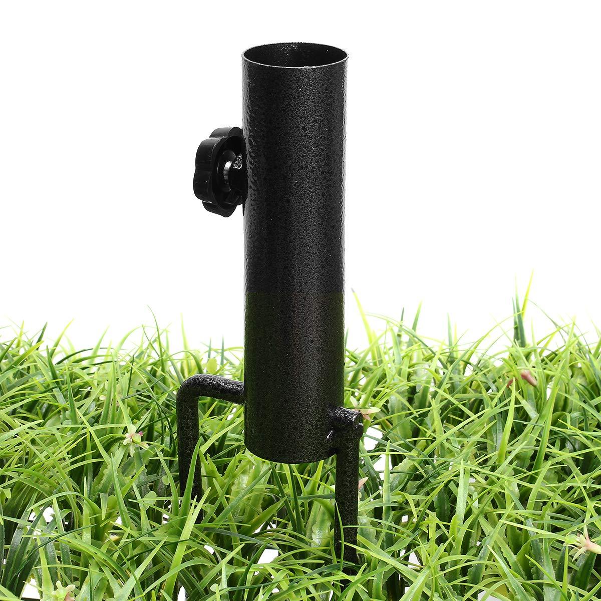 CCChaRLes Bird Feeder Pole Hangers Feeding Station Stabilizer Feet Spikesstand Feed Tube Garden Lawn