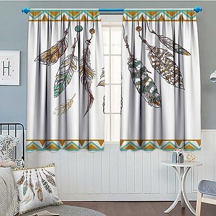 Amazon.com: Cortina de ventana hawaiana lacencn con diseño ...