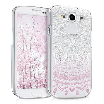 kwmobile Funda para Samsung Galaxy S3 / S3 Neo - Carcasa de [plástico] para móvil - Protector [Trasero] en [Rosa Claro/Blanco/Transparente]