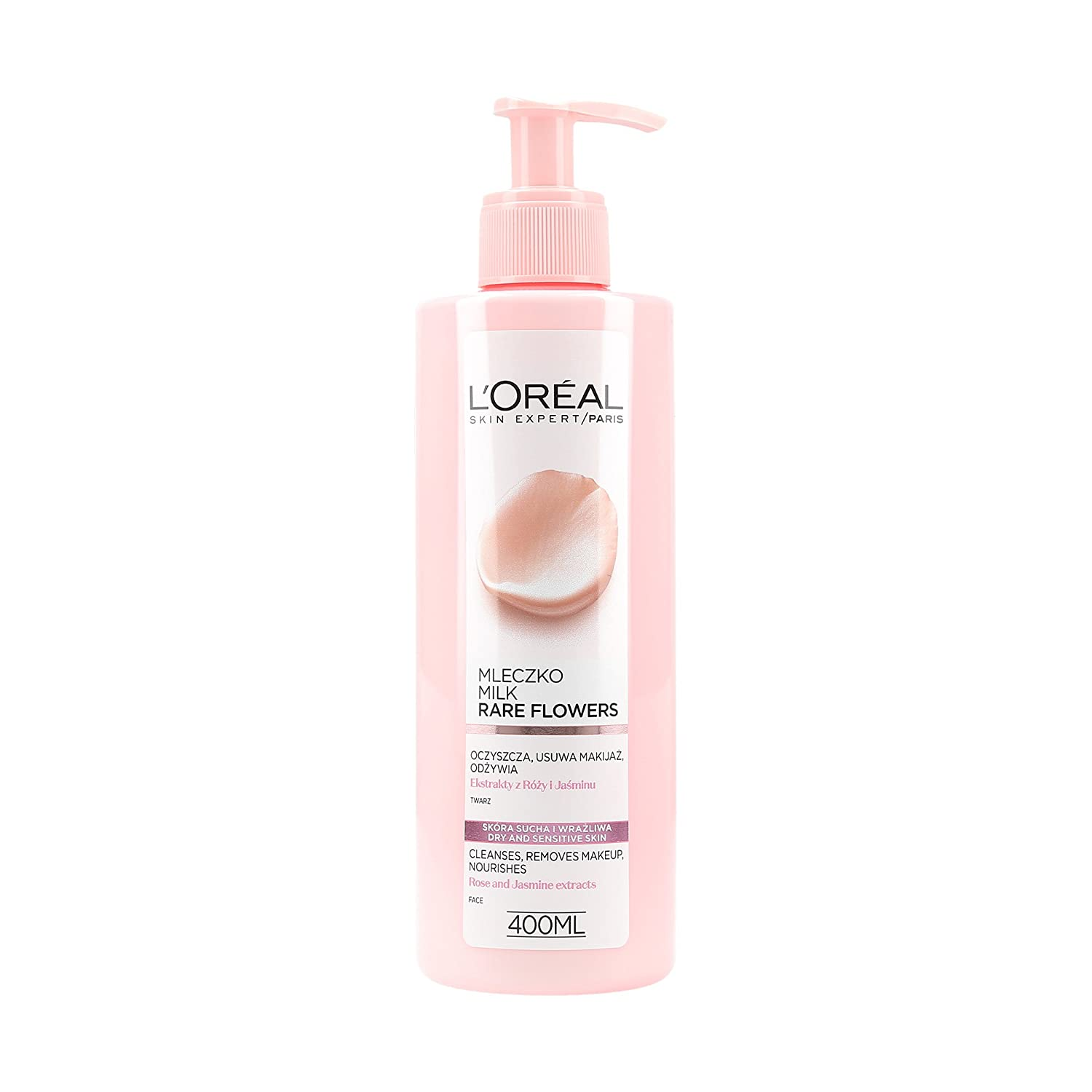 L Oreal Paris flores Rares leche Desmaquillante Piel Seca y Sensible 400 ml: Amazon.es: Belleza