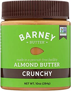 product image for BARNEY Almond Butter, Crunchy, No Stir, Non-GMO, Skin-Free, Paleo Friendly, KETO, 10 Ounce