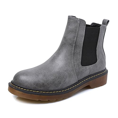 5a1b70ea63dc7 Meeshine Women's Boots Low Heel Slip On Short Ankle Bootie Shoes